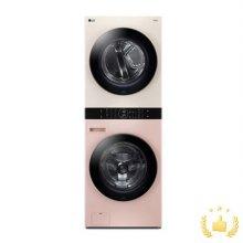 워시타워 오브제컬렉션 W16PE.AKOR [세탁기24KG + 건조기16KG/원바디 플랫 디자인/원바디 런드리 컨트롤/건조 준비기능/드럼-핑크,건조기-베이지]