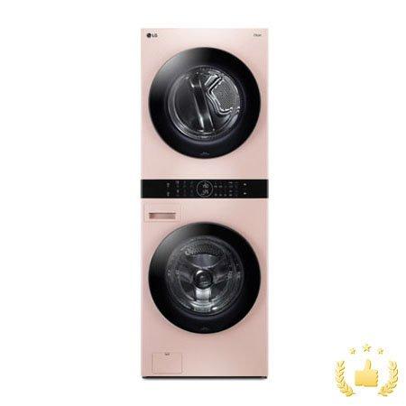 워시타워 오브제 컬렉션 세탁기(24kg)+건조기(16kg) 세트 W16PP (원바디 플랫 디자인, 원바디 런드리 컨트롤, 건조 준비기능, 네이처핑크)