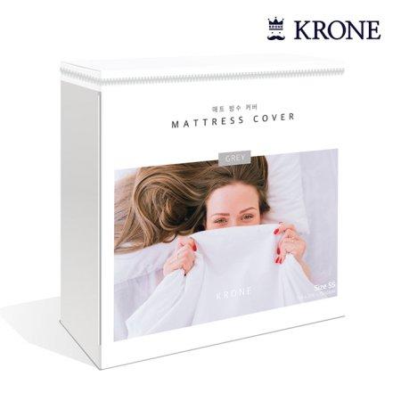크로네 프리미엄 텐셀 침대 방수커버 (그레이/20cm/싱글)