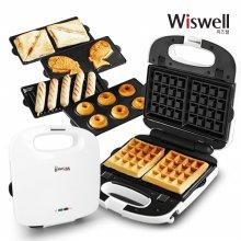 WSW-6137 간식메이커 5종패키지/와플/샌드위치/붕어빵