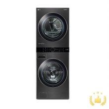 워시타워 W17KT.AKOR [세탁기 24KG+건조기 17KG/원바디 플랫 디자인/원바디 런드리 컨트롤/트루스팀건조/인공지능DD/스페이스 블랙]