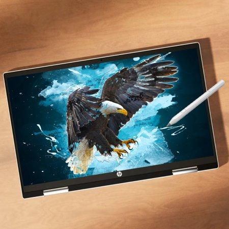 [다운로드쿠폰]파빌리온 x360 14-dw1049TU 태블릿 노트북/인텔 11세대 i5/8GB/256GB/win10/14inch(forest teal)