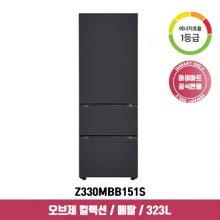 오브제 컬렉션 김치냉장고 Z330MBB151S (323L / 블랙 / 1등급)
