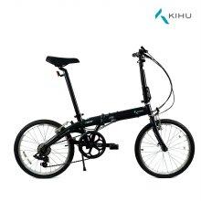 키후 포스 D7 접이식 자전거 블랙 (완조립)