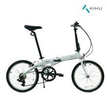 키후 포스 D7 접이식 자전거 화이트 (완조립)