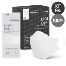 슈퍼클래스 KF94 마스크 프리미엄 대형 화이트 100매