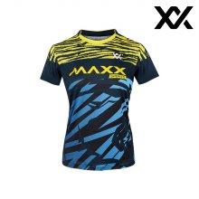 MAXX 배드민턴 여자 반팔 트레이닝 티셔츠 네이비
