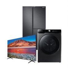 [※하트라이브SET] 냉장고 RS63R557EB4 [635L] + 드럼세탁기 WF23T8500KV + 163cm UHD TV KU65UT7050FXKR[벽걸이형]