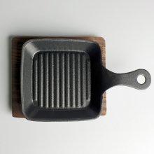 무쇠 원형 주물팬 손잡이 라인서버(소) 13cm