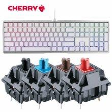 [무료배송,5%다운로드쿠폰]MX BOARD 3.0S RGB 게이밍 기계식 키보드 화이트 청축