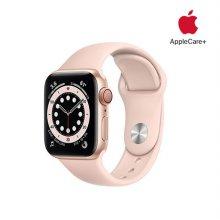 [Applecare+] 애플워치 6 GPS+Cellular 40mm 골드 알루미늄 케이스 핑크샌드스포츠밴드