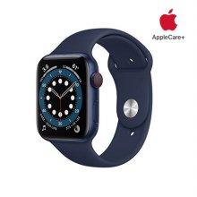[Applecare+] 애플워치 6 GPS+Cellular 44mm 블루 알루미늄 케이스 딥네이비스포츠밴드