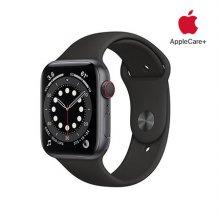 [Applecare+] 애플워치 6 GPS+Cellular 44mm 스페이스그레이 알루미늄 케이스 블랙스포츠밴드