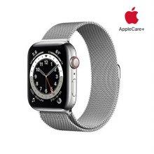 [Applecare+] 애플워치 6 GPS+Cellular 44mm 실버 스테인리스 스틸 케이스 실버밀레니즈루프