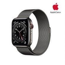 [Applecare+] 애플워치 6 GPS+Cellular 44mm 스페이스그레이 스테인리스 스틸 케이스 그래파이트밀레니즈루프