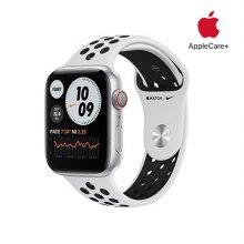 [Applecare+] 애플워치 6 Nike GPS+Cellular 44mm 실버 알루미늄 케이스 퓨어플래티넘블랙나이키스포츠밴드