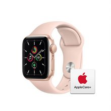 [Applecare+] 애플워치 SE GPS 40mm 골드 알루미늄 케이스 핑크샌드스포츠밴드