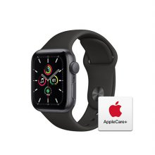 [Applecare+] 애플워치 SE GPS 40mm 스페이스그레이 알루미늄 케이스 블랙스포츠밴드