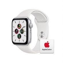 [Applecare+] 애플워치 SE 44mm GPS 실버 알루미늄 케이스 화이트스포츠밴드