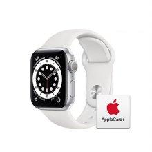 [Applecare+] 애플워치 6 GPS 40mm 실버 알루미늄 케이스 화이트스포츠밴드