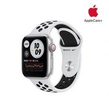 [Applecare+] 애플워치 SE Nike GPS+Cellular 40mm 실버 알루미늄 케이스 퓨어플래티넘블랙나이키스포츠밴드