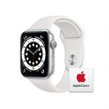 [Applecare+] 애플워치 6 GPS 44mm 실버 알루미늄 케이스 화이트스포츠밴드