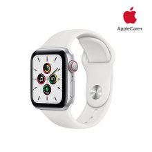 [Applecare+] 애플워치 SE GPS+Cellular 40mm 실버 알루미늄 케이스 화이트스포츠밴드