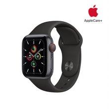 [Applecare+] 애플워치 SE GPS+Cellular 40mm 스페이스그레이 알루미늄 케이스 블랙스포츠밴드