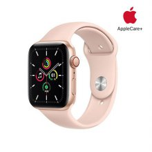 [Applecare+] 애플워치 SE GPS+Cellular 44mm 골드 알루미늄 케이스 핑크샌드스포츠밴드