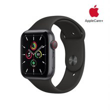 [Applecare+] 애플워치 SE GPS+Cellular 44mm 스페이스그레이 알루미늄 케이스 블랙스포츠밴드