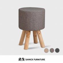 니모 원형 원목 스툴 화장대 의자