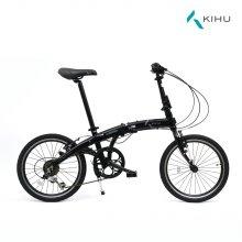 키후 오로라 KIHU AURORA 리얼 블랙 접이식 자전거 (완조립)