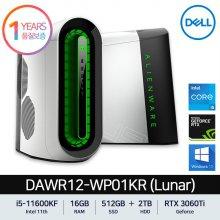 델 에일리언웨어 오로라 R12 데스크탑 PC DAWR12-WP01KR Lunar i5-11600KF/RTX3060Ti/16GB/512GB+2TB/W10프로