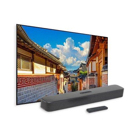 163cm UHD TV KU65UA9500FXKR + JBL 사운드바 무상증정 혜택!