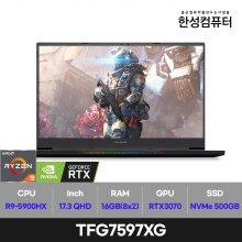 TFG7597XG 노트북 세잔 R9 5900HX 16GB 500GB 프리도스 17inch(블랙)