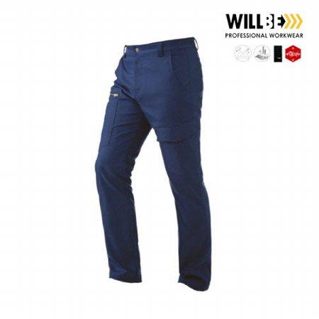 윌비 근무복 작업복 네이비 스판 사철복 바지 PR405