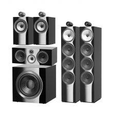 B&W 702S2(Black) + HTM71S2(Black) + 705S2(Black) + DB4S(Black) 스피커 패키지
