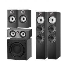 B&W 603S2(Black) + 607S2(Black) + HTM6S2(Black) +ASW608(Black)스피커 패키지