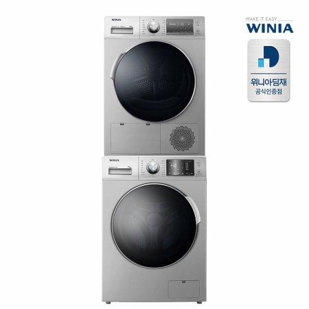 드럼세탁기(12kg) + 건조기(10kg) 세트 (실버, 전국무료설치)