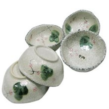 대접 세트 면기 국그릇 공기 접시 식기 매화 5p