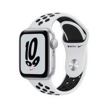 애플워치SE 나이키 40mm GPS 실버 알루미늄 케이스 퓨어플래티넘 스포츠 밴드
