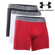 언더아머 팬티 /A71- 1277279-100 / 남성 UA Charged Cotton Stretch 6인치 Boxerjock 3Pack